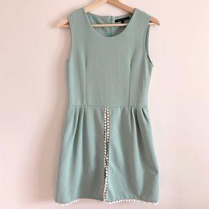UPTOWN GIRL sleeveless mini mint dress SZ Sm